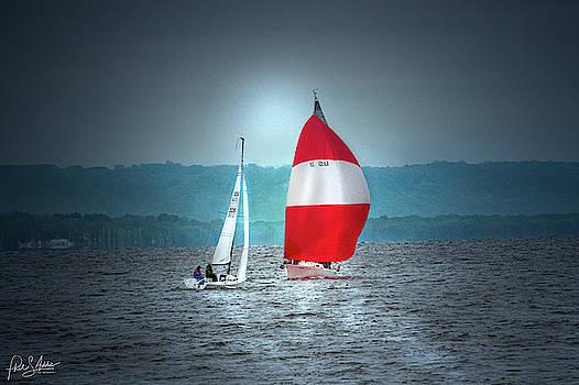 Neighbors Sailing by Phil S Addis