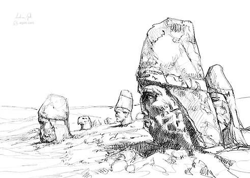 Andrea Gatti - Nemrut drawing