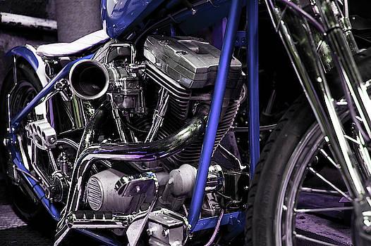 Neon Dreams - Harley Custom by Jayson Tuntland