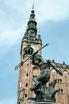 Neptune and Gdansk Town Hall by Ramunas Bruzas