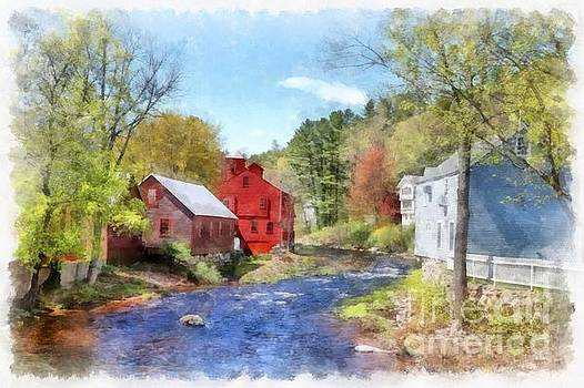 New Boston New Hampshire Watercolor by Edward Fielding