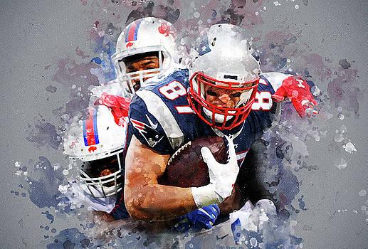 New England Patriots against Buffalo Bills by Nadezhda Zhuravleva