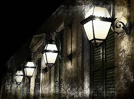 New Orleans Lamplights Abstract by Jeff Watts
