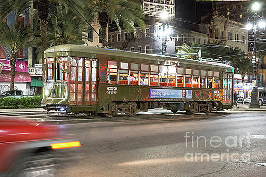 New Orleans Streetcar At Night by Felix Lai