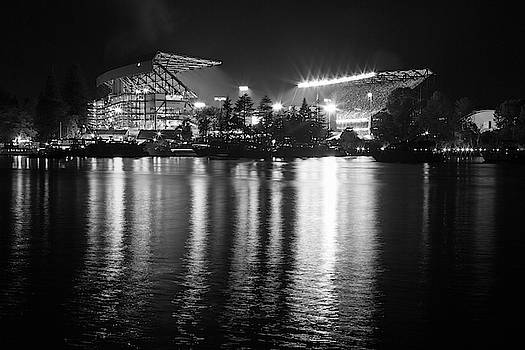 Max Waugh - New Stadium Reflection Monochrome