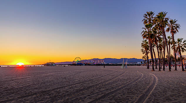 Blue And Gold Sunset by Gene Parks