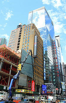 New York Architecture Photos - Times Square by Doc Braham