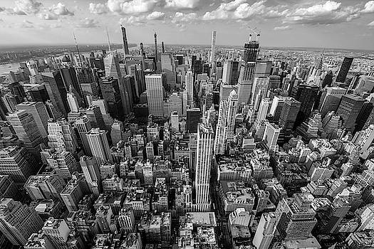 New York City Black White by Crystal Wightman