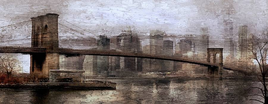 New York City Landscape Abstract by Jeff Watts