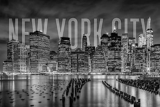 Melanie Viola - NEW YORK CITY Skyline - monochrome