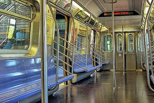 New York City Empty Subway Car by Zal Latzkovich