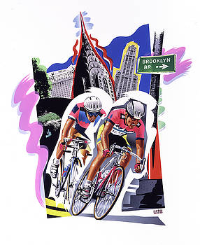 New York Cyclists by Garth Glazier
