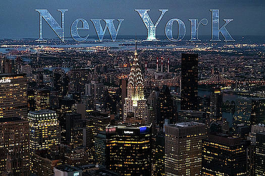 Sharon Popek - New York Skyline with Type