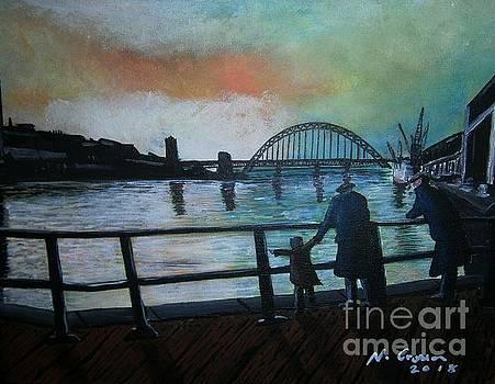 Newcastle Tyne Bridge 60s  by Neal Crossan