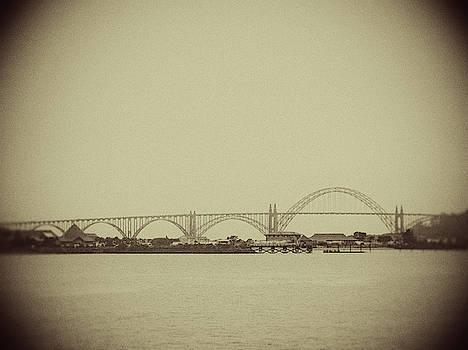 Newport Oregon Bridge by Rebecca Cozart
