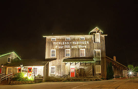 Nickless Mill at Night by Diane Schuler