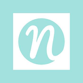Nicolesy Logo Pillow by Nicole Young