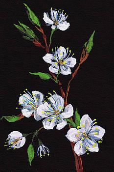 Night And Cherry Blossoms Floral Impressionism by Irina Sztukowski