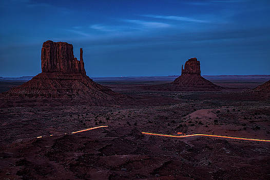 Night Driving in Monument Valley by Andrew Soundarajan