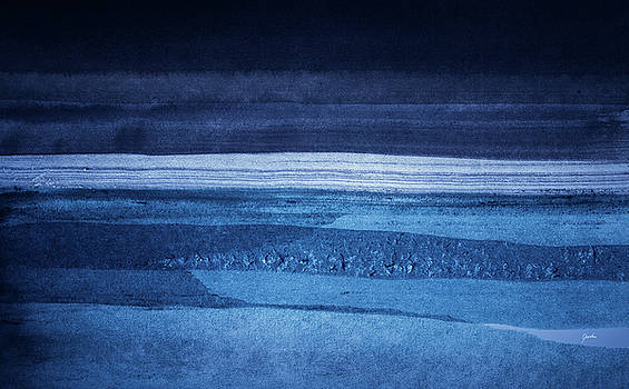 Night Tide - Abstract Watercolor Sea - Ocean Painting by Modern Art Prints