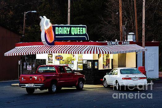 Night View of the Dairy Queen by Terri Morris