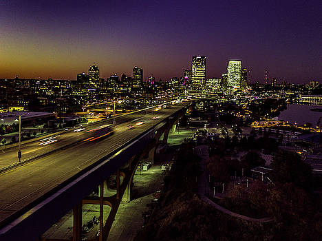 Nightfall in Milwaukee by Randy Scherkenbach