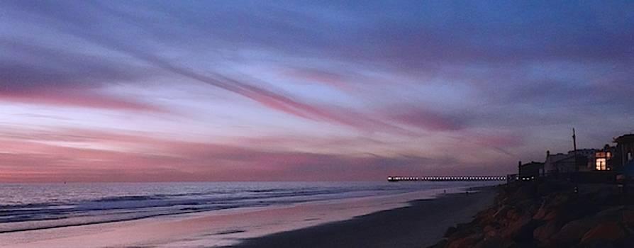 Nightfall Along the California Coast by Jan Cipolla