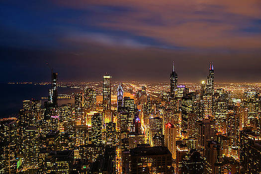 Nightfall over Chicago by Andrew Soundarajan