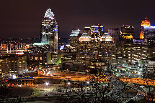 Nighttime in Cincinnati, Ohio by Ina Kratzsch