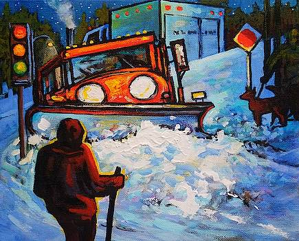 Nighttime Snowplow by Catherine Robertson