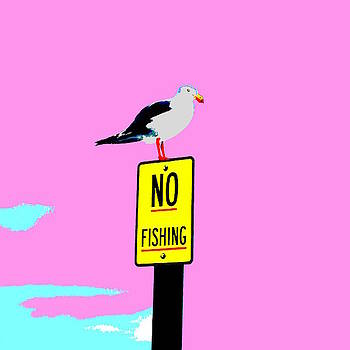 No Fishing - Pink by Lexa Harpell