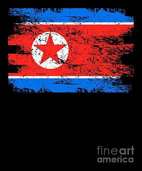 North Korea Shirt Gift Country Flag Patriotic Travel Asia Light by J P