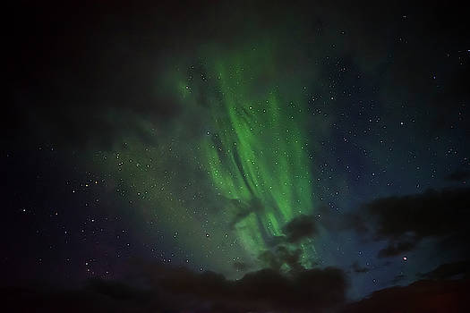 RicardMN Photography - Northern lights between clouds in Northwest Iceland #2