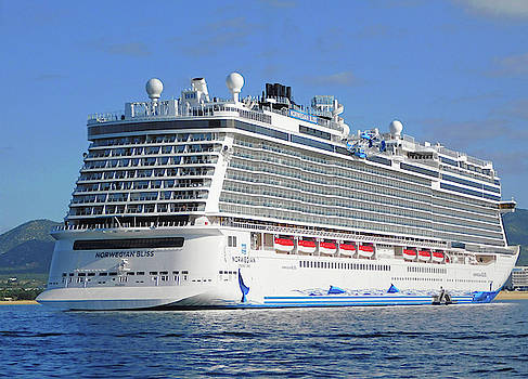 Norwegian Bliss Mega Ship by Emmy Marie Vickers