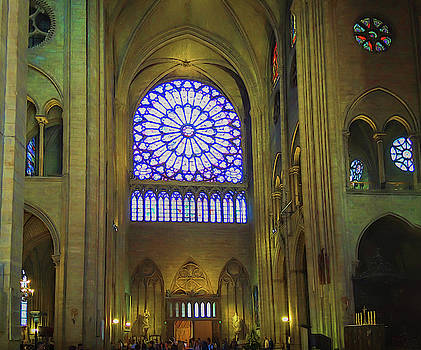 Notre Dame Cathedral Interior  by Mary Lynn Giacomini