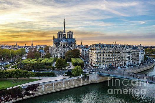 Notre Dame de Paris at Sunset by Mike Reid