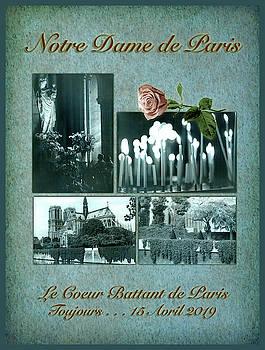 Notre Dame de Paris in Blue by Bonnie Follett