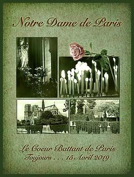 Notre Dame de Paris in Green by Bonnie Follett