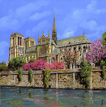 Notre Dame in primavera by Guido Borelli