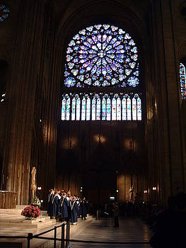 Notre Dame - Rose Window by Gilbert Pennison