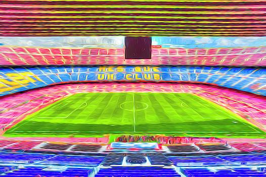 Nou Camp Stadium Art by David Pyatt