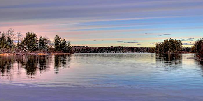Dale Kauzlaric - November Clouds Over Dam Lake