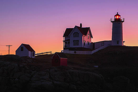 Nubble Light Silhouette by Juergen Roth