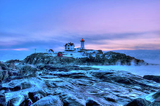 Joann Vitali - Nubble Lighthouse Sunrise - York, Maine