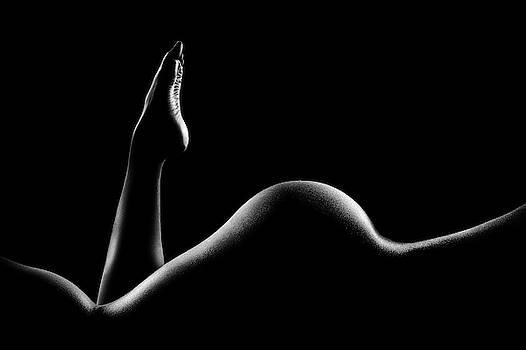 Nude woman bodyscape 14 by Johan Swanepoel