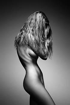 Nude woman sensual body by Johan Swanepoel
