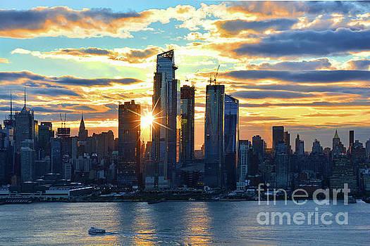 Regina Geoghan - NYC Blue-hued Sunrise