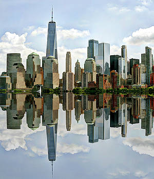 NYC Manhattan skyline by Geraldine Scull