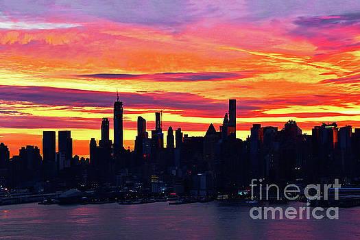 Regina Geoghan - NYC Sunrise Painted Skies