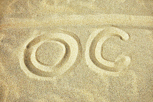 O C in the Ocean City Sand by Bill Swartwout Fine Art Photography